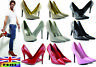 Women Mens Drag Queen Crossdresser High Heel Platform Court Shoe Large Size 9-12