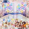 10Pcs Agate Latex Balloons Rainbow Marble Wedding Birthday Party Decor 12'' Bu