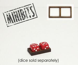 Wargames Hit Marker MDF Dice Frames - Double Frames - Various Sizes