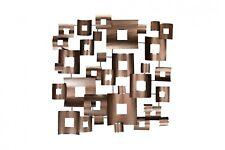 Wanddeko Metall 'CLOCKWORK' | Wandskulptur Wandobjekt 100x100x6cm
