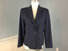 Pendleton L 12 Navy Blue 100% wool Blazer Jacket Excellent Career Suiting