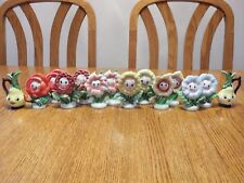 Vtg Lot Cute PY Anthropomorphic Flower Face Boy And Girl Salt And Pepper Shakers