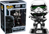Imperial Death Trooper Chrome Metallic 154  STAR WARS FUNKO POP VINYL NEW Box