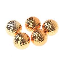 1pc golf balls novel ball golf equipment gold color CN