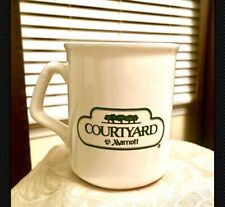 Awesome Courtyard Marriott Hotel Advertising Ceramic White Coffee Cup Mug