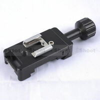 Clamp+Hot Shoe Mount for Camera Quick Release Pate &Canon Nikon Speedlight Flash