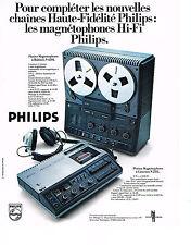 PUBLICITE  1976   PHILIPS    magnétophone à bobine à cassettes