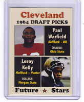 Paul Warfield & Leroy Kelly, '64 Cleveland Browns Draft Picks rookie stars 🔥