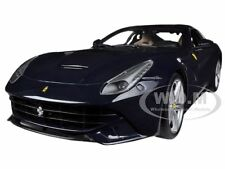 FERRARI F12 BERLINETTA BLUE 1/18 DIECAST MODEL CAR BY HOTWHEELS BCJ73
