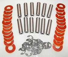 """12 Tattoo Machine Coil Core set with Phenolic coil core washers 1 1/4"""" cores USA"""