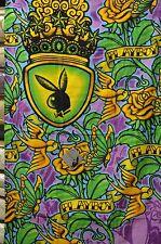 Playboy  Beach Towel 100% Cotton purple tatto