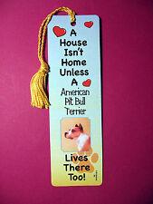 """American Pit Bull Terrier"" A House Isn't Home -Tassel (flaggold tassel) Sku# 36"