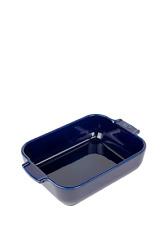 PEUGEOT - Plat four céramique rectangle bleu profond 25 cm - 10' Appolia