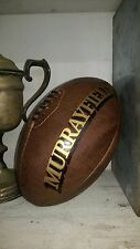 A Full Size Vintage leather 'Murryfield' Rugby Ball