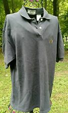 Vintage 90's Navy Bugle Boy Shirt Mens M Crest Collared Polo Rugby Golf