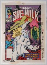 MARVEL - She-Hulk #7 cover 1988 - acetate color separation art - one of kind!!!!