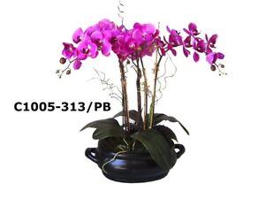 """30""""H Orchid Large Phalaenopsis Silk Orchid Flower Arrangement (purple)"""