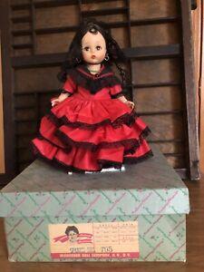 "8"" MADAME ALEXANDER VINTAGE SPANISH GIRL #795 - Original Box"