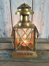 More details for stunning victorian style vintage solid brass candle lantern tea light holder