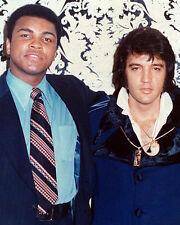 Muhammad Ali and Elvis Presley Superb 10x8 Photo