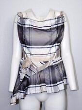 Vivienne Westwood Anglomania 46 Plus Size Peplum Ruffle Sleeveless Top