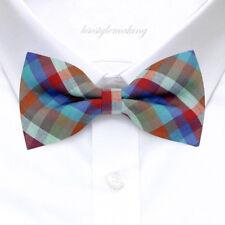 *Brand New* Multi-Color Luxury Rare Checked Tuxedo Boys Bow Tie B1013