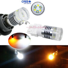 High Power 30W Dual-Color White Amber LED Bulbs For DRL Front Turn Signal Lights