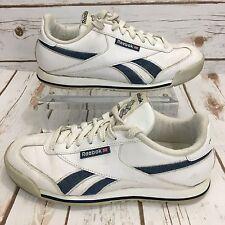 Vintage Reebok Sneakers Womens 90s Grunge Leather Denim 8.5 Gosha Vetements