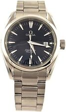 ORIGINAL OMEGA SEAMASTER AQUA TERRA 2518.80 BLUE SWISS QUARTZ MIDSIZE MENS WATCH