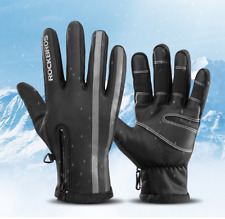 RockBros Winter Cycling Full Finger Keep Warm Touch Screen Water-proof Gloves