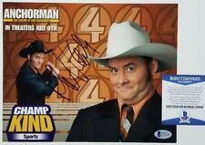 "DAVID KOECHNER Signed ANCHORMAN 8x10 Photo ""Champ Kind"" Auto ~ Beckett BAS COA"