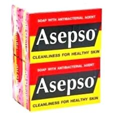 2x80g ASEPSO Bar Soap Original Formula Antiseptic Antibacterial Bath Clean Skin