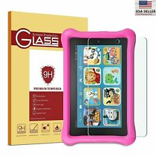 2 Pack Tempered Glass Screen Protector for Fire 7 Kids Edition Tablet 2019/2017