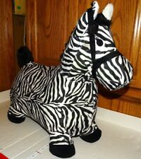 "Hopping Horse Zebra Cover Outdoors Ride On Bouncy Animal Inflatable 21"" x 18"""