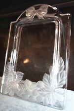 "10""Vtg.Bohemian Art Deco Satin Glass Cabinet Portrait Family Photo Picture Frame"