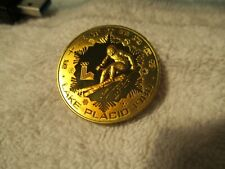 1980 CHINA LAKE PLACID 1 YUAN SKIING BRASS PIEFORT REEDED RARE PROOF