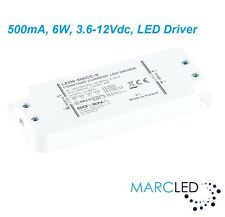 500mA 6W 3.6-12VDC LED Driver, Z-LED-6W-500CC-SLIM, small size, with mount ears