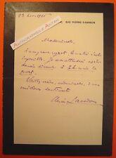 L.A.S 1906 Henri LAVEDAN Journaliste Ecrivain Académicien Lettre autographe LAS