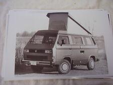 1987  VOLKSWAGEN  VANAGON  CAMPER 11 X 17  PHOTO /  PICTURE