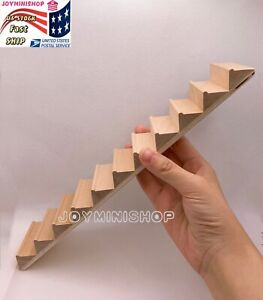 1/12 Miniature 11 steps Stairs Straight Staircase Dollhouse Furniture Wood 1pc