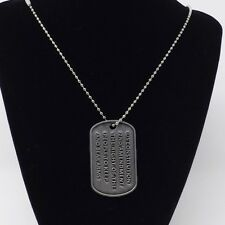 Men's 2nd Amendment Dogtag Necklace on a Ball Chain - New