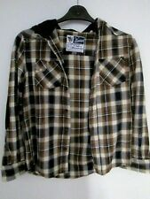 Hooded Plaid Shirt- Heavy Cotton- Vintage Style. Great Condition, Age 12 152cm