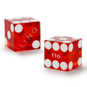 Pair of 19mm Official Cancelled Casino Dice Used at The Linq Casino -Colors Vary