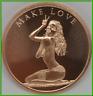 2019 1oz Make Love BU Silver Shield .999 Copper Round MiniMintage