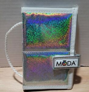 Empty Moda by Royal and Langnickel Case Make Up Brushes Holder Silver Glittery