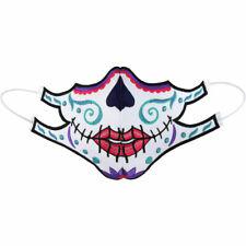 💮La Catrina Blumen Totenkopf Maske💀60° waschbar Mehrweg Schutzmaske☆Gesicht