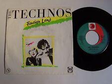 "THE TECHNOS Foreign land - 7"" 45T 1983 Synth funk pop VOGUE 101828 joe glasmann"