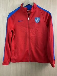 Nike Team USA Soccer Tracksuit Jacket Size Youth X-Large Perfect Used Condition