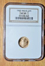 1987 $5 1/10th American Gold Eagle - NGC ms69 - Serial Number 011138-045