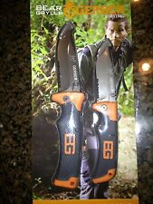 "2 GERBER BEAR GRYLLS SURVIVAL KNIFE SET:SCOUT LOCKBACK & FOLDING SHEATH 4.9"" NEW"